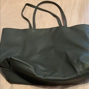 Gray bag exclusively from Bloomingdales